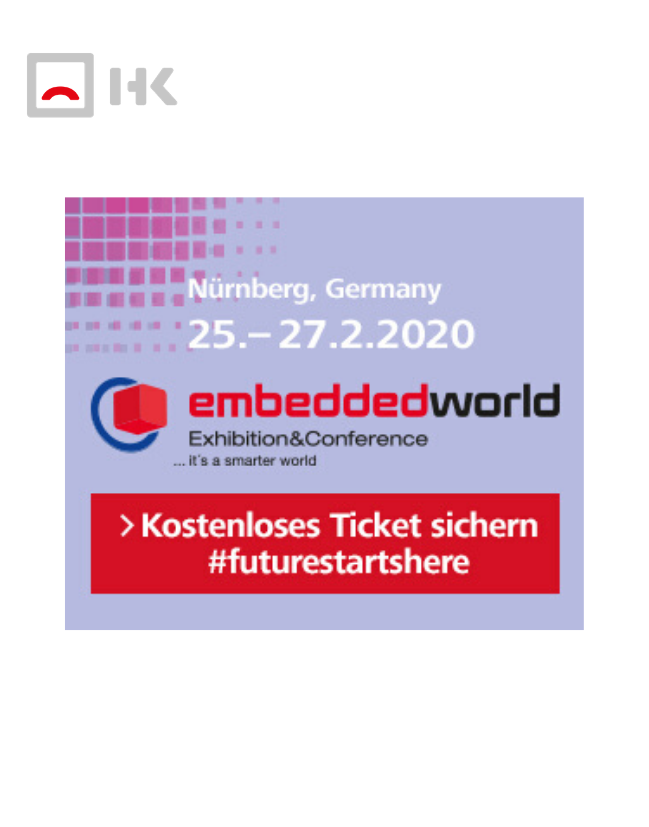 Messedatum und Logo embedded world